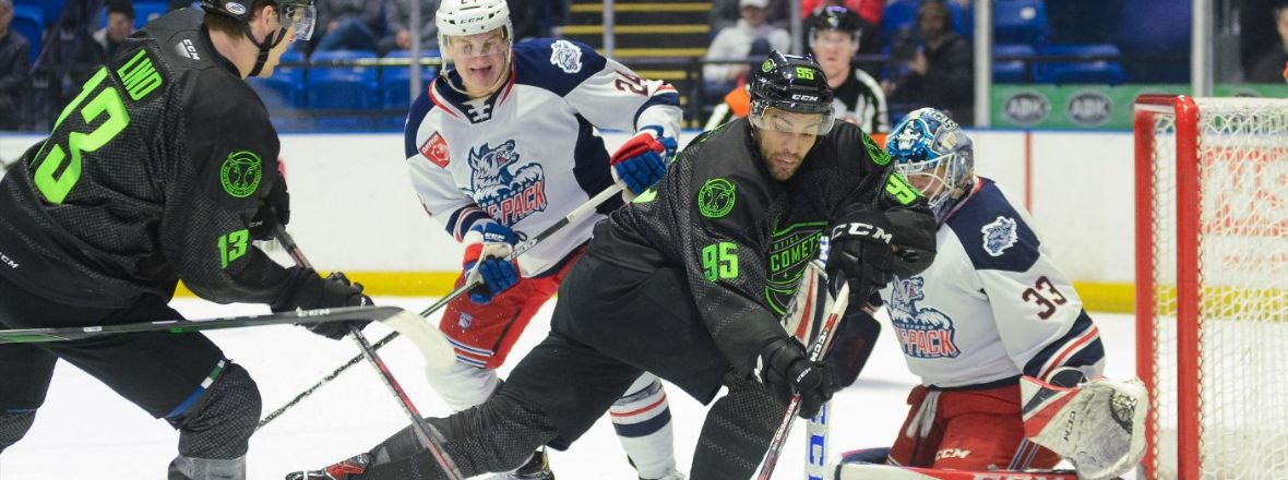 Wolf Pack Can't Sustain Good Start in 6-3 Loss to Comets