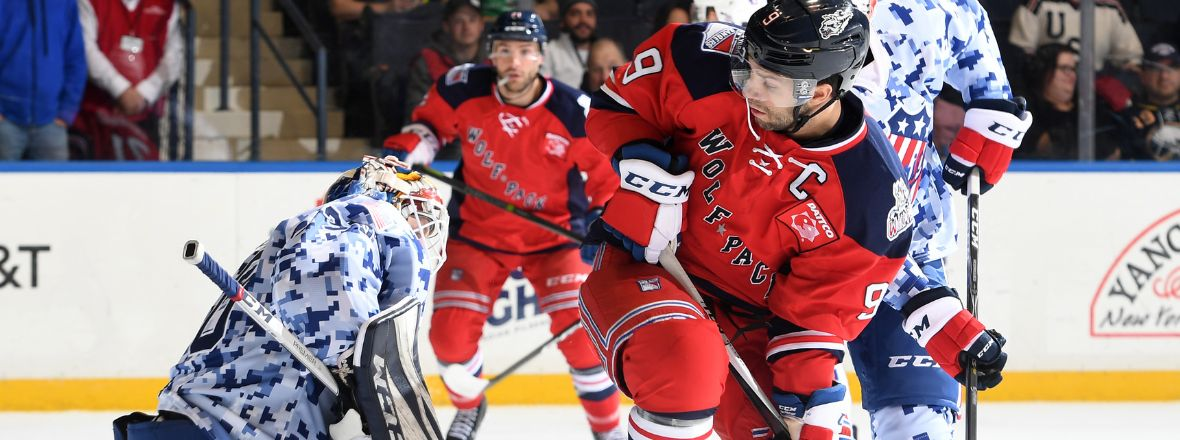 Wolf Pack Outshoot Amerks 38-31 in Rochester, but Lose 4-2