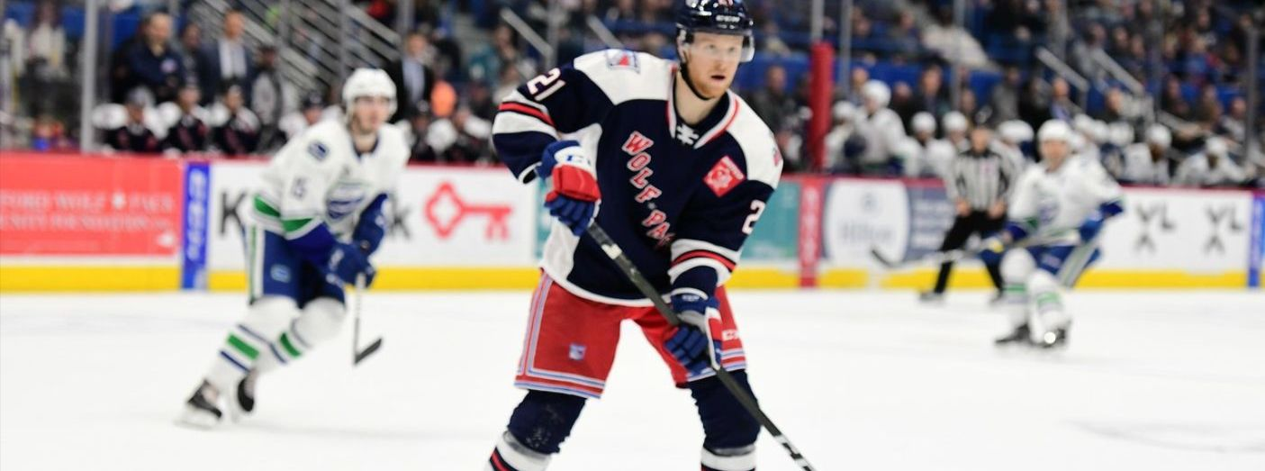 Wolf Pack Sign Forward Shawn McBride