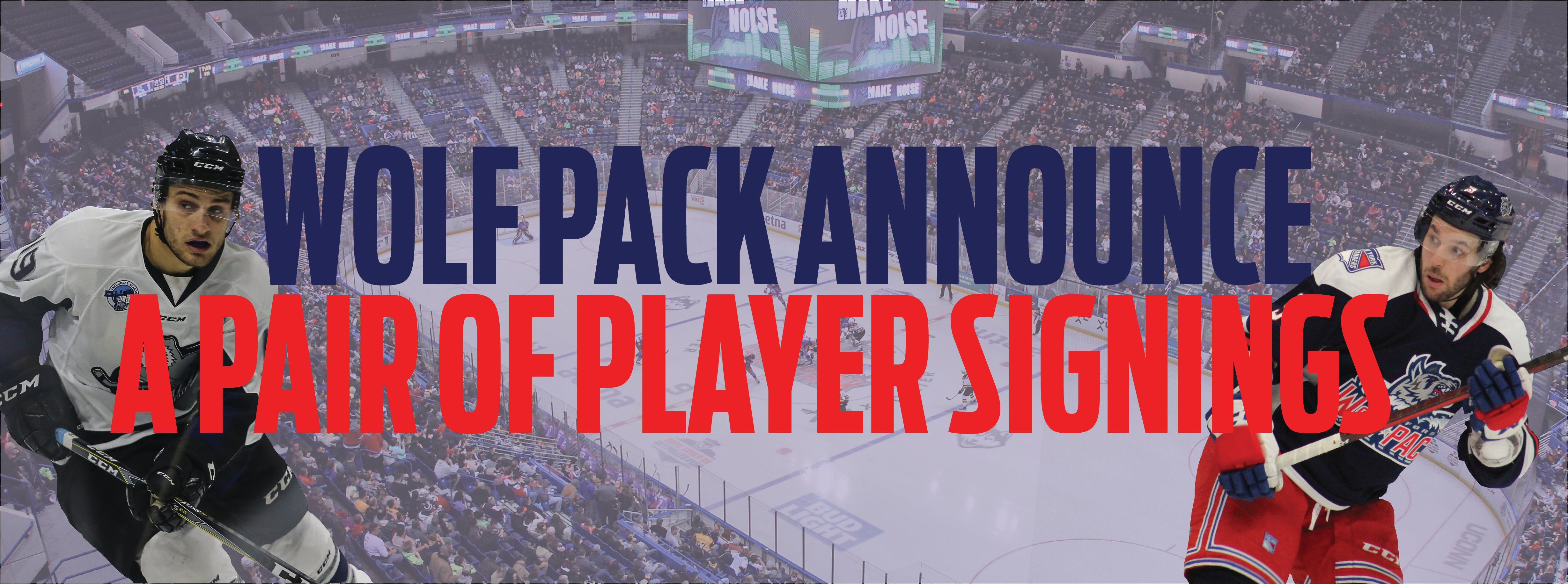 Wolf Pack sign DiGiacinto + O'Leary